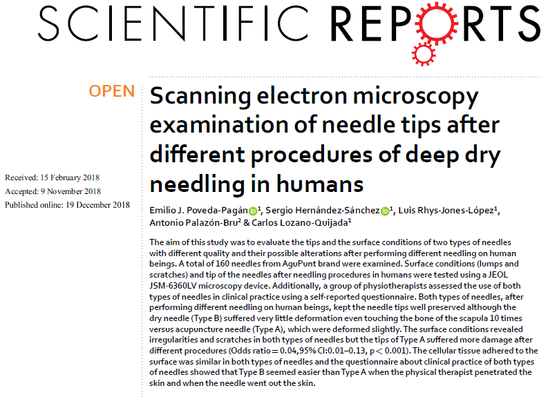 Scanning needles